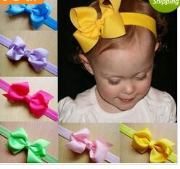 $enCountryForm.capitalKeyWord Canada - 20colors 20pcs Infant Bow Headbands Girl Flower Headband Children Hair Accessories Newborn Bowknot Flower Hairbands Baby Photography Props