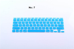 $enCountryForm.capitalKeyWord Canada - Shiny 2 colors Letters Silicone Keyboard Skin Protector Covers For US Edition Macbook Tablet Computer And Waterproof High Quality