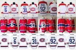 a68fa6eb610 2017 New AD Montreal Canadiens 31 Carey Price 6 Shea Weber 92 Jonathan  Drouin Home RED Hockey Jerseys Stitched 100th Classic Patch