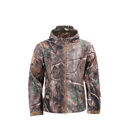 lurker shark skin jacket UK - Dropshipping Lurker Shark Skin Softshell V5 Military Tactical Jacket Men Waterproof Coat Camouflage Hooded Army Camo Clothing