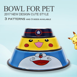$enCountryForm.capitalKeyWord NZ - Travel Pet Dry Food Cat Bowls for Dogs Doraemon Pattern Dog Bowls Outdoor Drinking Water Fountain Pet Dog Dish Feeder Goods