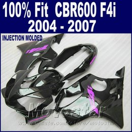 F4i Fairings Australia - Injection molding custom fairing for HONDA CBR 600 F4i fairings 2004 2005 2006 2007 bodykit black 04 05 06 07 cbr600 f4i IZDS