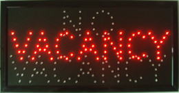 VACANCY NO hotel motel LED store Open Sign neon Light room vacant Switch chain free shiping on Sale