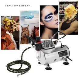 $enCountryForm.capitalKeyWord NZ - Freeshiping 3 Airbrush Kit With Air Compressor Dual-Action aerografo Hobby Spray Air Brush Set Tattoo Nail Art Paint Supply w Cleaning Brush