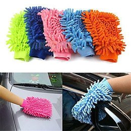 Chenille Towels Wholesale Australia - Car Hand Soft Cleaning Towel Microfiber Chenille Washing Gloves Coral Fleece Anthozoan Car Sponge Wash Cloth Car Care Cleaning 17110612