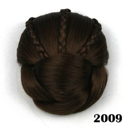 Hair Bun Braided NZ - hanzi_beauty new Soloowigs Heat Resistant Fiber 6 Colors Women Clip-in Braided Chignon Synthetic Hair Buns for Brides