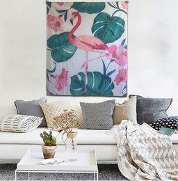 $enCountryForm.capitalKeyWord Canada - High Qulity 230D Knitted Polyester 130x150cm Splendid Ethnic Wall Decor Printing Bohemian Flamingo Mandala Indian Wall Hanging Tapestry
