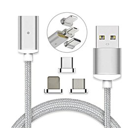 $enCountryForm.capitalKeyWord Canada - Magnetic Charging Cable Micro USB Cable Nylon Braided High Speed Type c Charger 3.3ft 1M For Android Samsung Phone With Retail Package