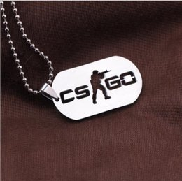 Chain Counter Australia - High quality Stainless Steel CSGO Dog Tag Collier Jewelry Game Theme Cs Go Cs Go Necklace Counter Strike Name Tag Pendant