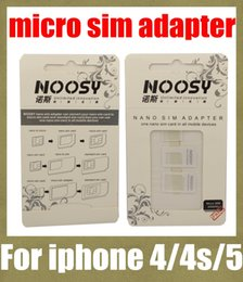 iphone mobile holder 2019 - noosy sim card adapter nano sim adapter tray holder sim card tray for iphone 5 4s 4 micro sim card tray for most mobile