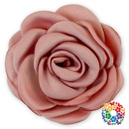 Ribbons For Hair Canada - 02) 240pcs lot DHL Free Stylish Satin Ribbon Layers Colorful Handmade Rose Flower For Hair Decoration