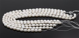 Wholesale fresh Water pearl online shopping - New Noble Natural Fresh Water Loose Pearl Oval Beads MM Fine Wedding Jewelry High Quality for