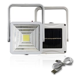 Discount portable night lights - LED COB chip Solar Lamp USB charge Bright Energy Saving Night light Solar Powered Security lights Garden camping hiking