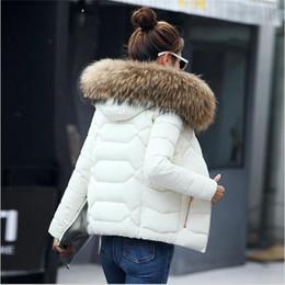 Pad Jacket Canada - SMFOLW 2017 New winter jacket women Fake fur collar down wadded jacket female cotton-padded jackets thickening women winter coat