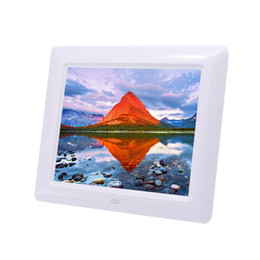 Remote contRol pictuRes online shopping - 8 inch Ultrathin HD Digital Photo Frame with Alarm Clock MP3 MP4 Movie Player digital Photo Picture Album with Remote control Q0150