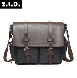 $enCountryForm.capitalKeyWord Canada - Factory wholesale brand handbag, fashion flip top Canvas Handbag, simple large capacity computer bag, trend canvas leather leisure briefcase