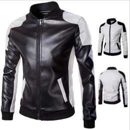 Wholesale men lether jackets resale online - Autumn Moto Vintage Mens Jackets Coat Motorcycle PU Male Leather Jacket Men Casual Stand Collar Slim Fit lether Brown