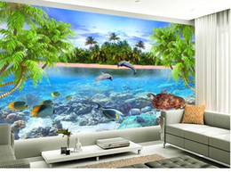 $enCountryForm.capitalKeyWord Canada - Custom 3d mural wallpaper European style 3D stereoscopic Dolphin Bay living room TV backdrop bedroom 3d photo wallpaper 20158197