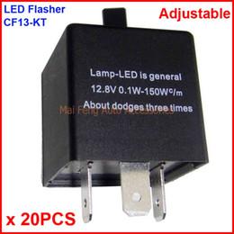 $enCountryForm.capitalKeyWord Canada - 20PCS CF13-KT LED Flasher Adjustable Color 3 Pin Electronic Relay Module Fix Car LED SMD Turn Signal Error Flashing Blinker 12V 0.02A TO 20A