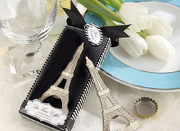 $enCountryForm.capitalKeyWord Canada - New Creative novelty home party items The Eiffel Tower Chrome bottle opener wedding favors gift box packaging free shipping