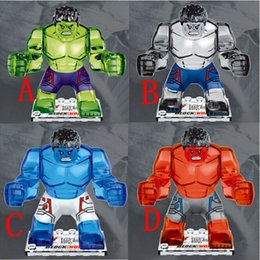 Super Blocks Australia - 200pcs lot The Avengers crystal HULK Building Blocks Sets Super Hero mini building blocks figures Toys