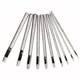 2.5mm Cutter NZ - 10x 0.5 1 1.5 2 2.5 3 3.5 4 4.5 5mm Leather Steel Belt Puncher Hollow Punch Set Round Hole Cutters Handworking Craft