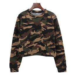 $enCountryForm.capitalKeyWord NZ - Lady winter camouflage pattern roung neck expose waist add wool short fleece women long sleeve midriff costume