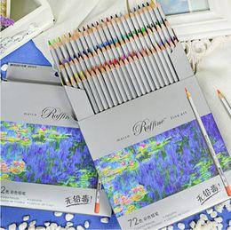 72 Colored Pen Pencils lapis de cor Professional Fine Arts Drawing Non-toxic Lead-free Sketch Pencil Painting on Sale