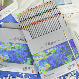 Fine art pens online shopping - 72 Colored Pencils lapis de cor Professional Fine Arts Drawing Non toxic Lead free Sketch Drawing Pencil Color Drawing Painting Colored Pen