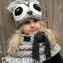 011b0d53129 Baby Beanie Scarf Winter Wool OWL Xmas Decoration Kid Manual Crochet Cap  With Scarf Lovely Baby Beanie Handmade Cap Infant Knit OWL Hats. NZ 23.07  ...