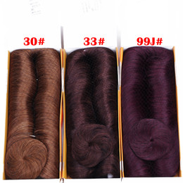$enCountryForm.capitalKeyWord Canada - 33# Color 28pcs Short Indian Human Hair Weave With Free Closure Brown Black Blonde Dark Red 6 Color Can Choose Free Delivery