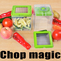 fruits dicer cutter Canada - Chop Magic Kitchen Helper Chopper Fruit Vegetable Slicer salad Cutter dicer Manual Processor Shredders Household Kitchen Tools