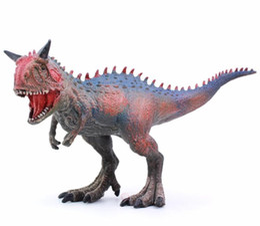 Children eduCational online shopping - Jurassic Carnotaurus Dinosaur Toys Action Figure Animal Model Collection Learning Educational Children Toy Gifts