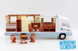 Discount toy buses for children Free Shipping Diecast Metal Toy Model Touring Van Bus Pull Back Car Educational Collection Gift For Children