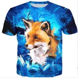 Womans S Clothing Canada - New Fashion Womans Men Short Sleeves Bacy Fox Funny 3D Print T-shirt Summer Casual Clothes Top Tees Plus S-5XL K15