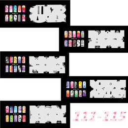 airbrushing stencils UK - New Fashion Airbrush Nail Stencils Set 111-120 Tools Diy Airbrushing 10 x Template Sheet for Airbrush Kit Nail Art Paint