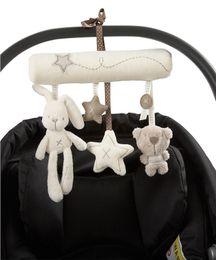 Pram rattles online shopping - Plush Pendant Baby Bed Baby Cribs Baby Cradle Lovely Cute Infant Newborn Baby Pram Bed Bells Soft Hanging Kids Toys Animal Handbells Rattles