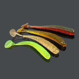 Luminous Bait Worms Canada - 30Pcs Pack Newest Soft Fishing Lures Luminous Bait 7cm 1.8g Noctilucent Artificial Fake Bait Cheapest Wholesale