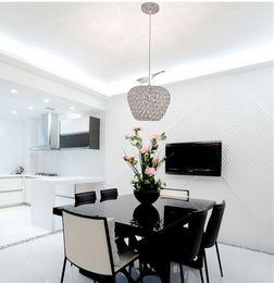 2015 New Best Selling Apple Shaped Crystal Chandeliers Bedroom Restaurant Bar 85V 260V E27 LED Light Free Shipping Discount Dining Room
