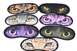 Barato Olhos Bonitos Do Remendo Do Sono-600pcs Cartoon meow star eyeshade 3D Travel sono máscara de olho bonito animal gato descanso de descanso de descanso Mascara de olho Shade Nap Cover Blindfold Shade