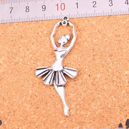 $enCountryForm.capitalKeyWord Australia - 24pcs Charms ballet dancer,Antique Making pendant fit,Vintage Tibetan Silver,jewelry DIY bracelet necklace 61*24mm