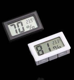 Humidity sensor tHermometer Hygrometer online shopping - Mini Black White Digital LCD Embedded Thermometer Hygrometer Temperature Humidity Meter indoor Thermometer