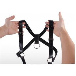 Harnais De Jambes Pour Le Sexe Pas Cher-M Ouvrir la protection des jambes Belt Bondage PU Fetish Body Harness Restraints Special Fetish Bondage Sex Toy Full Body Bind Restraint Sex Products