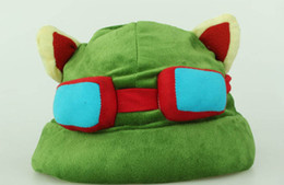 Chinese  1pc lot League of Legends LOL Teemo Hat Army Green Cap DressUp Cosplay Gift manufacturers