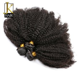 Brazilian Rosa Hair Products Bundles UK - Slove Mongolian Afro Kinky Curly Unprocessd Virgin Hair Weave Bundle Human Hair Extension Slove Rosa Hair Products Natural Color