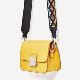 cell phone bag shoulder strap UK - Fashion ZA Women Messenger Bag Yellow Mini Crossbody Bags Two Shoulder Straps Designer Handbags High Quality Ladies