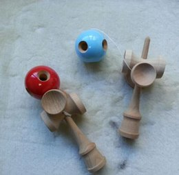 TradiTional japanese games kids online shopping - 2015 NEW Hole cup Kendama Japanese Traditional Wood Game Kids Toy PU Paint Beech Christmas gifts