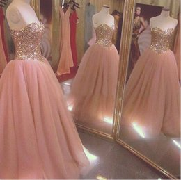 China 2018 Sweetheart Tulle Ball Gown Quinceanera Dresses Beaded Lace up Back Floor-length Sweet 16 Dresses Vestidos De Quinceanera Gowns cheap coral quinceanera dresses sweet 16 suppliers
