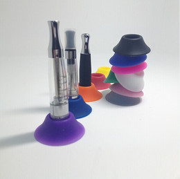 Ego T Stands Canada - Cheapest eCig silicone Dock EGO battery Silicon Base Sucker Holder for Electronic Cigarette Battery EGO T EGO C EVOD Twist Holders Stands