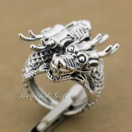 $enCountryForm.capitalKeyWord Canada - Huge Heavy 925 Sterling Silver Double Dragon Head Mens Biker Rocker Ring 9Q014 US Size 8~14 Free Shipping